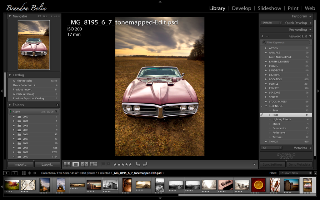 Lightroom 2 With Keyword Box Open
