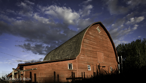 Natural LR Preset applied to Photo of Barn