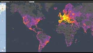 Sightsmap, virtual heat map