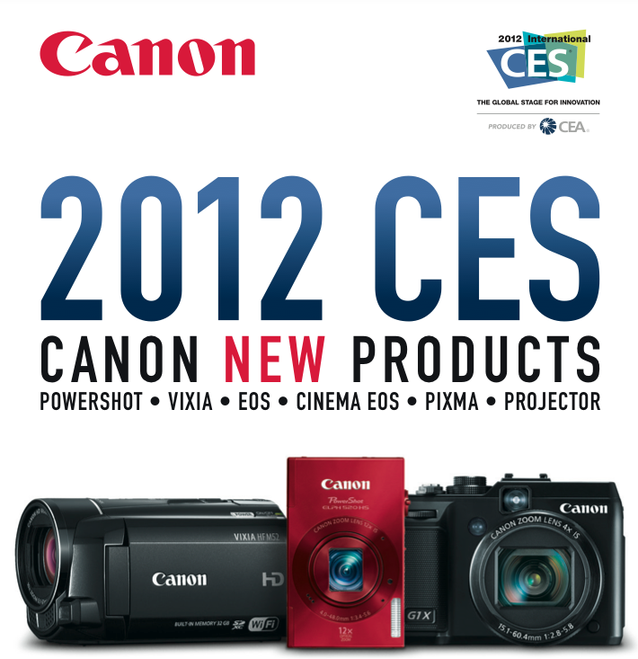 2012 CES Canon New Products